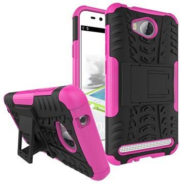 Custodia Ibrida per Huawei Y3II Anti Scivolo - Hot Pink