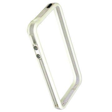 Code Bumper Flessibile in TPU per iPhone 4 / 4S - Bianco