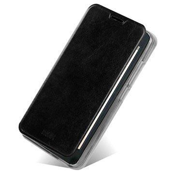Custodia Flip in Pelle Mofi Rui Series per Huawei Ascend G630 - Nera