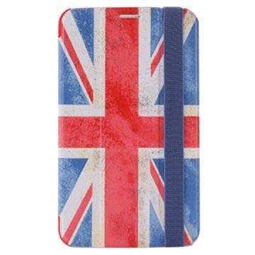 Custodia a Flip Puro Zeta Slim per Samsung Galaxy Tab 3 7.0 P3200, P3210 - Motivo Bandiera Britannica