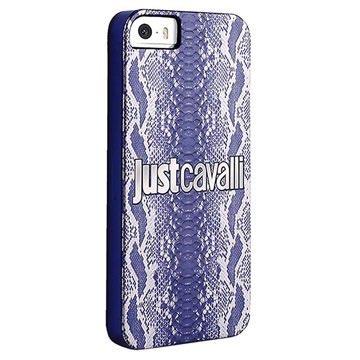 Hard Cover Puro Just Cavalli Python per iPhone 5 / 5S / SE - Blu