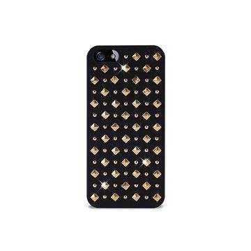 Custodia Puro Rock Round And Square Studs per iPhone 5 / 5S / SE - Nera
