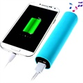 2 in 1 Batteria Esterna / Power Bank e Altoparlante - Blu